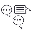 simple chats line icon sign vector image vector image