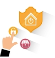 Smart home house icon set vector image
