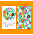 Sport and Fitness Banners Set Template vector image vector image