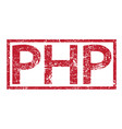 stamp text php vector image vector image