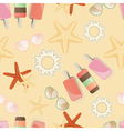 Starfish background pattern vector image vector image