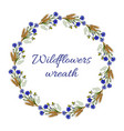 summer floral wreath vector image vector image