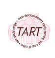 tart dessert with berries icon cartoon vector image