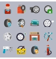 Tire service icon flat vector image