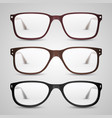 transparent glasses vector image vector image
