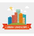 Urban buildings graphic vector image vector image