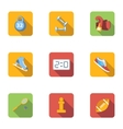 Workout icons set flat style vector image vector image