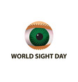 world sight day october 11 eye anatomical vector image vector image
