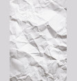 wrinkled white vertical paper vector image vector image
