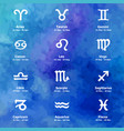 zodiac icons freehand drawing vector image