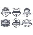 Set of Vintage Baseball Club Badge and Label vector image