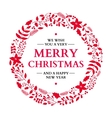 Christmas doodle wreath with greeting