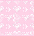 abstract lace hearts seamless pattern love print vector image vector image