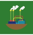 Alternative energy factory vector image vector image