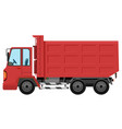 an isolated red truck vector image