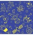 Astronaut in space doodle art vector image vector image