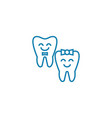 baby teeth linear icon concept baby teeth line vector image vector image