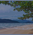 background evening sandy beach under the vector image vector image