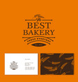 bakery logo pastry identity business card pattern vector image