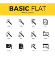 Basic set of Magic icons vector image vector image