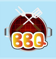 bbq grill top view background image vector image