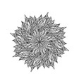 beautiful hand drawn mandala black vector image vector image