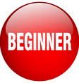 beginner red round gel isolated push button vector image vector image