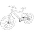 bicycle blueprint outline bicycle on white vector image vector image