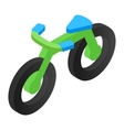 Bicycle isometric 3d icon vector image