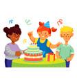birthday celebration - colorful flat design style vector image