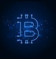 bitcoin technology network digital background vector image