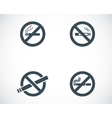 black no smoking icons set vector image vector image