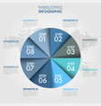 business infographics circle chart design vector image vector image