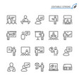 business presentation line icons editable stroke vector image vector image