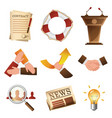 business related objects and people isolated vector image