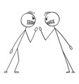 cartoon two angry men or businessmen in fight vector image vector image