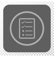 Checklist Page Rounded Square Button vector image vector image