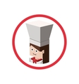 Chef isometric avatar vector image vector image