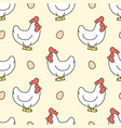 chicken and egg seamless pattern background vector image