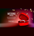 classic silver diamond ring landing page vector image