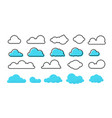 clouds set trendy different flat vector image