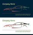 company logo icon element template car vector image vector image
