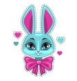 Cute cartoon bunny girl face vector image