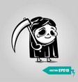 cute death with a scyhelloween sticker vector image vector image