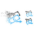 dust dotted halftone banknotes exchange icon vector image vector image