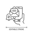 email alert linear icon vector image