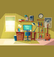 empty home office for freelance job vector image vector image