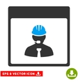 Engineer Calendar Day Eps Icon vector image vector image