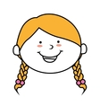 face girl smile isolated icon design vector image