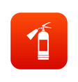fire extinguisher icon digital red vector image vector image